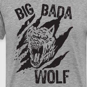 Big Bada Wolf Paw Scratch T-Shirts - Men's Premium T-Shirt