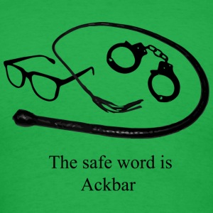 The Safe Word is Ackbar - Men's T-Shirt