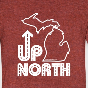 Men/Unisex: Up North Vintage fit T-Shirt - Unisex Tri-Blend T-Shirt by American Apparel