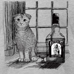 Scottish Fold and Scotch - Men's T-Shirt by American Apparel