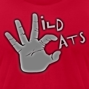 wildcat wc handsign.png T-Shirts - Men's T-Shirt by American Apparel