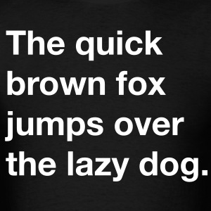 The quick brown fox jumps over the lazy dog - Men's T-Shirt