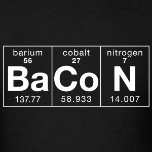 The Elements of BaCoN - Men's T-Shirt