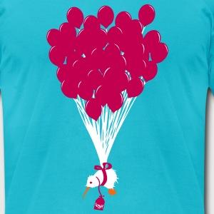 The flying Kiwi - Men's T-Shirt by American Apparel