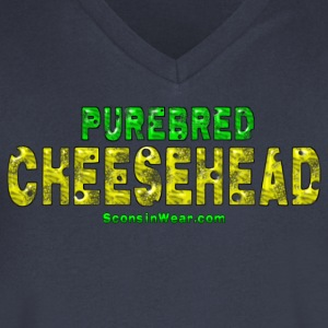 Purebred Cheesehead T-Shirts - Men's V-Neck T-Shirt by Canvas