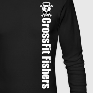 CrossFit Fishers, White Skull Long sleeve - Men's Long Sleeve T-Shirt by Next Level