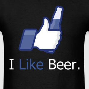 I Like Beer (Social Network) Dark T-Shirt - Men's T-Shirt