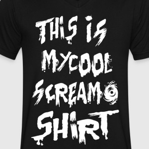 This is my cool screamo shirt - Men's V-Neck T-Shirt by Canvas