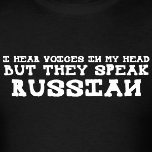 Voices In My Head Speak Russian FPS Russia MP T-Sh - Men's T-Shirt