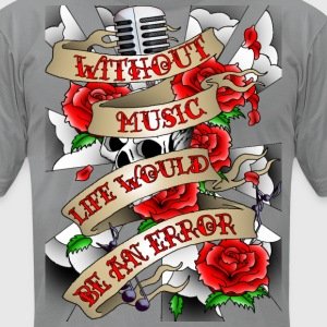 without_music_all_in_one_lg T-Shirts - Men's T-Shirt by American Apparel