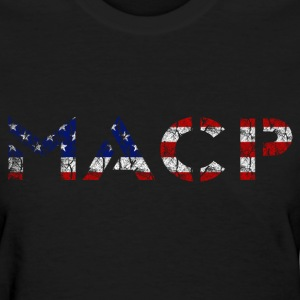 MACP Knee Fighter USA Flag Women's Distressed - Women's T-Shirt