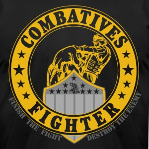 Combatives Fighter Gold Slim Fit - Men's T-Shirt by American Apparel