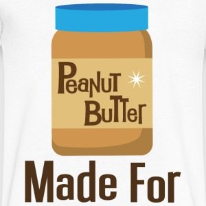 Made For Each Other Couples (Peanut Butter) T-shir - Men's V-Neck T-Shirt by Canvas