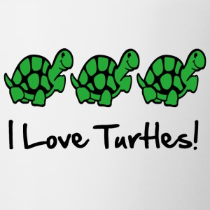 I Love Turtles! Kim Richards mp Bottles & Mugs - Coffee/Tea Mug