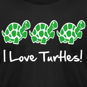 I Love Turtles! Kim Richards mp T-Shirts - Men's T-Shirt by American Apparel