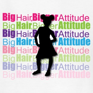 Big Hair, Bigger Attitude Kids' T-shirt - Kids' T-Shirt