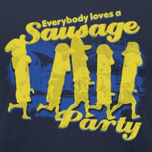 EVERYBODY LOVES A SAUSAGE PARTY T-Shirts - Men's T-Shirt by American Apparel