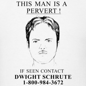 Wanted Poster of Dwight - Men's T-Shirt
