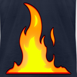 flame_copy_ss_long T-Shirts - Men's T-Shirt by American Apparel