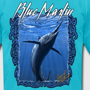 Blue Marlin - Men's T-Shirt by American Apparel