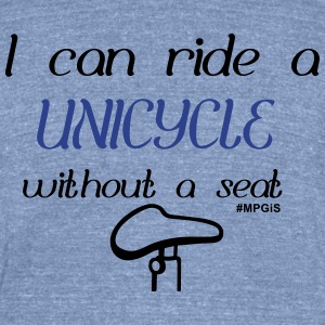Most Popular Girls Ride a Unicycle T-Shirts - Unisex Tri-Blend T-Shirt by American Apparel