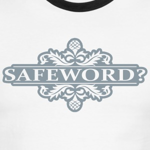 Safeword in Metallic Silver - Men's Ringer T-Shirt
