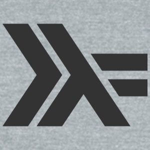 Black Haskell Logo :: Gray Shirt  - Unisex Tri-Blend T-Shirt by American Apparel