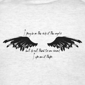 On the side of the angels - Men's T-Shirt