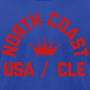 North Coast Indians Flock Print on Blue - Made in  - Men's T-Shirt by American Apparel