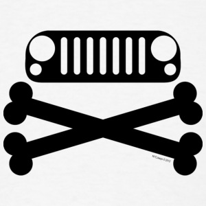 Jeep JK Wrangler Grille and Crossbones  - Men's T-Shirt