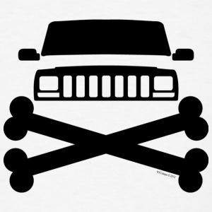 Jeep XJ Grille and Crossbones  - Men's T-Shirt
