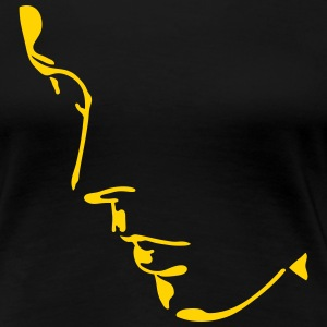 girl face, light and shadow Women's T-Shirts - Women's Premium T-Shirt