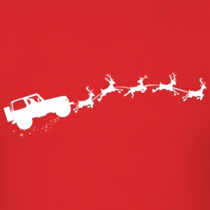 Santa's Jeep  - Men's T-Shirt