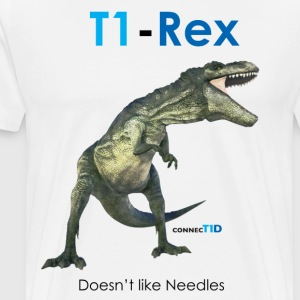 -Rex Doesn't Like Needles - Men's Premium T-Shirt