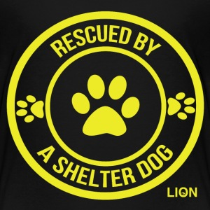 Rescued by a Shelter Dog - Kids' Premium T-Shirt