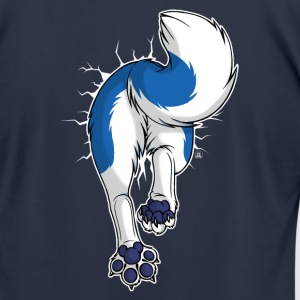 STUCK Husky Blue (front) T-Shirts - Men's T-Shirt by American Apparel