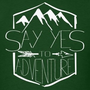 Yes to Adventure - Men's T-Shirt