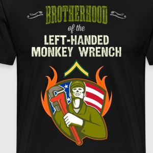 Brotherhood of the Left-Handed Monkey Wrench - Men's Premium T-Shirt