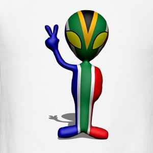 South African 3D Alien - Men's T-Shirt