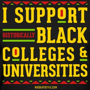 I Support HBCUs - Women's Red, Black, Green, and G - Women's T-Shirt