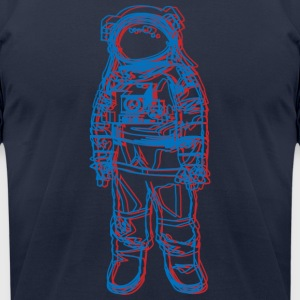 3D astronaut tee - Men's T-Shirt by American Apparel