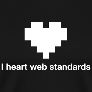 I heart web standards - Men's Premium T-Shirt