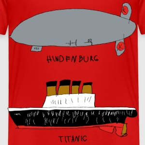 Hindenburg & Titanic Kid's Drawing - Toddler Premium T-Shirt