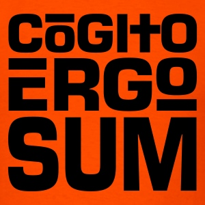 Cogito Ergo Sum Dark on Heavyweight Shirt - Men's T-Shirt