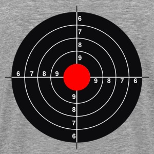 Target on the back. - Men's Premium T-Shirt