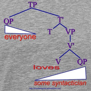 Everyone loves some syntactician - Men's Premium T-Shirt