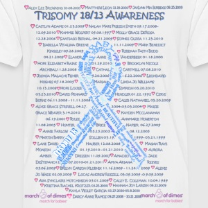 Trisomy 18/13 awareness names Baby & Toddler Shirts - Toddler Premium T-Shirt