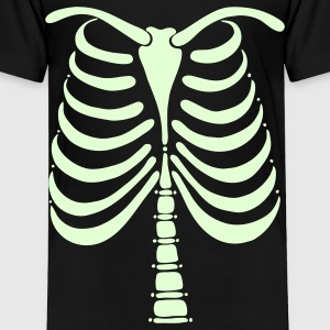 Skeleton Bones Glow in the Dark: Front & Back Toddler T-Shirt - Toddler Premium T-Shirt