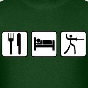Picto - Eat, Sleep, Fence - Men's T-Shirt