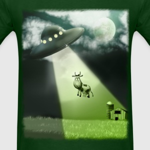 Comical UFO Cow Abduction - Men's T-Shirt